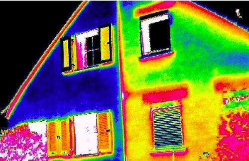 Thermografie eines Hauses